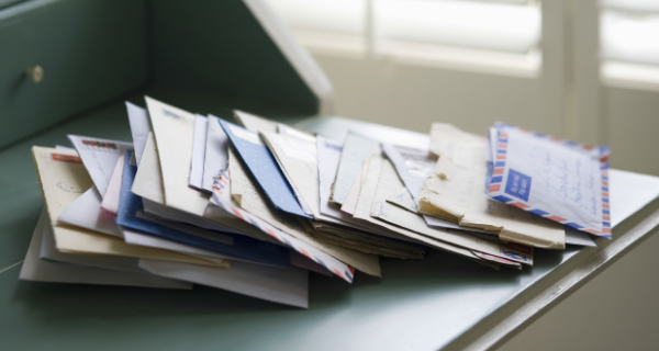 Senior citizen's mail piling up that used to be checked regularly.