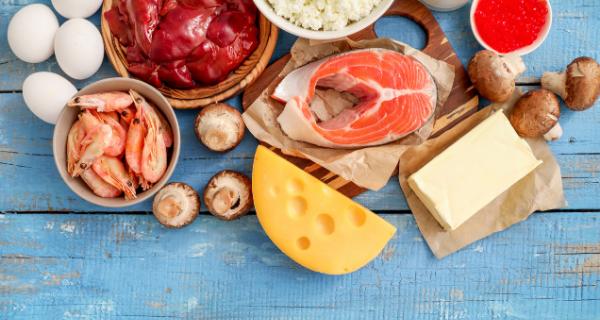 Assortment of vitamin D rich foods