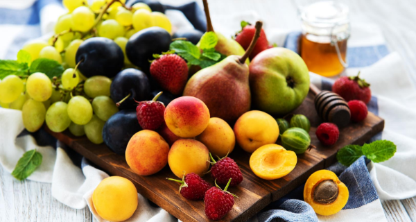 Colorful tray of fruit
