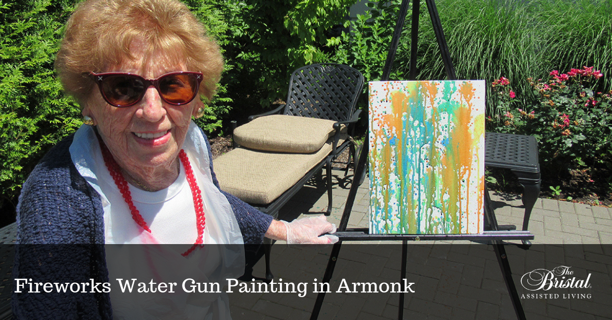 Fireworks Water Gun Painting in Armonk