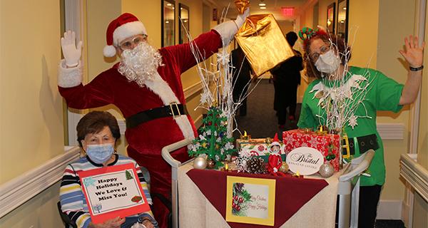 Santa visits Jericho