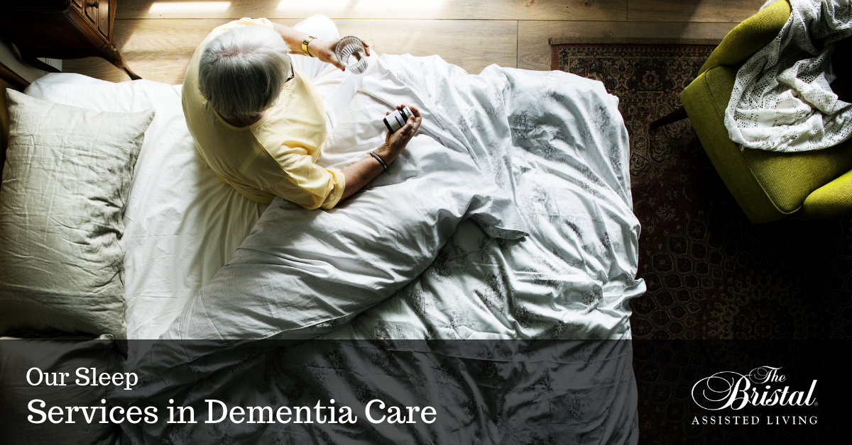 Senior woman with dementia having issues sleeping at night