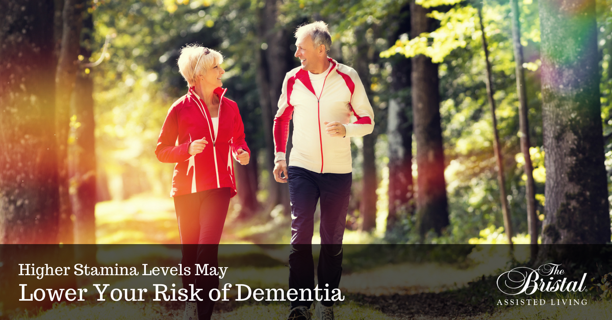 Senior couple walking to increase stamina and reduce the chances of dementia