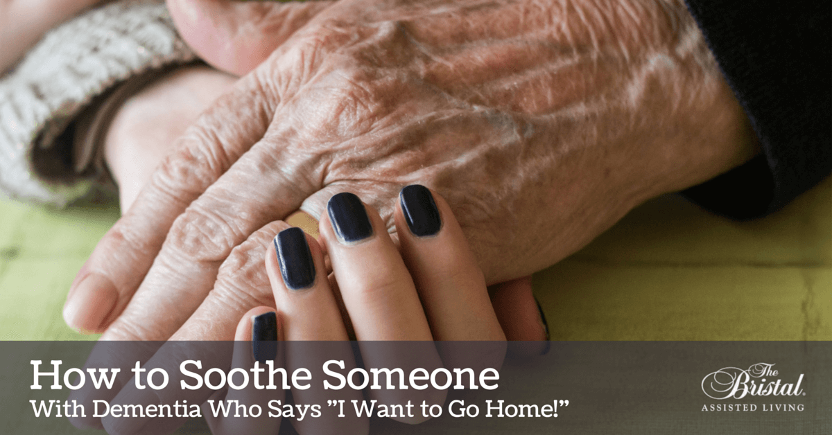 How to soothe someone with dementia