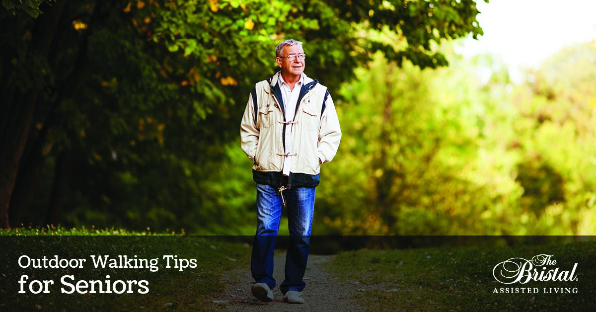 Outdoor Walking Tips for Seniors, senior man walking in the park