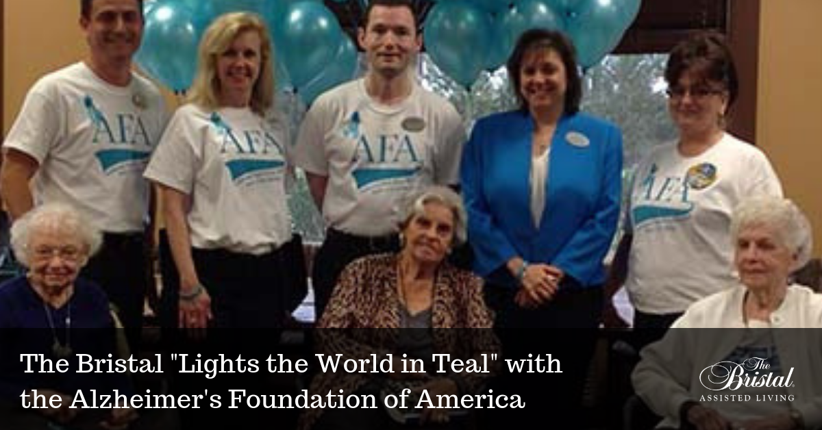 The Bristal Lights the World in Teal with the Alzheimer's Foundation of America