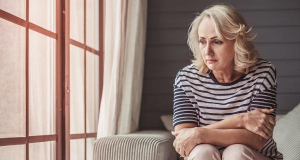 Caregiver showing signs of caregiver stress and burnout