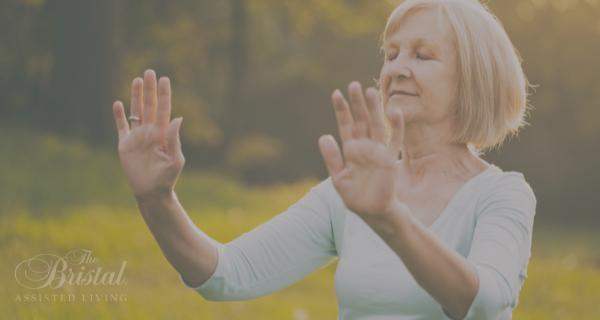 Woman with arthritis practicing tai chi